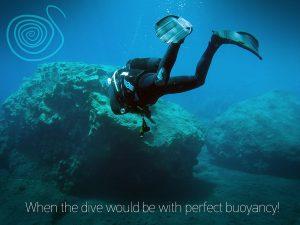Description of the scuba diving peak performance boyancy technique